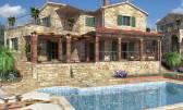 Poreč - Baderna, građevinsko zemljište za 5 vila s bazenima