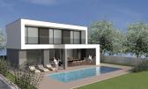 Istra, Kaštel - Buje, atraktivna moderna vila s bazenom, novogradnja