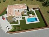 Istra, Marčana okolica, zemljište sa građevinskom dozvolom za gradnju vile s bazenom