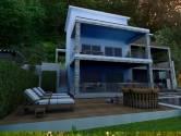 VEPRINAC- novogradnja, kuća s 2 stana, bazenom i okućnicom
