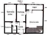 DUGAVE: dvoetažni stan s 4 spavaće sobe i loggiama, 100 m2